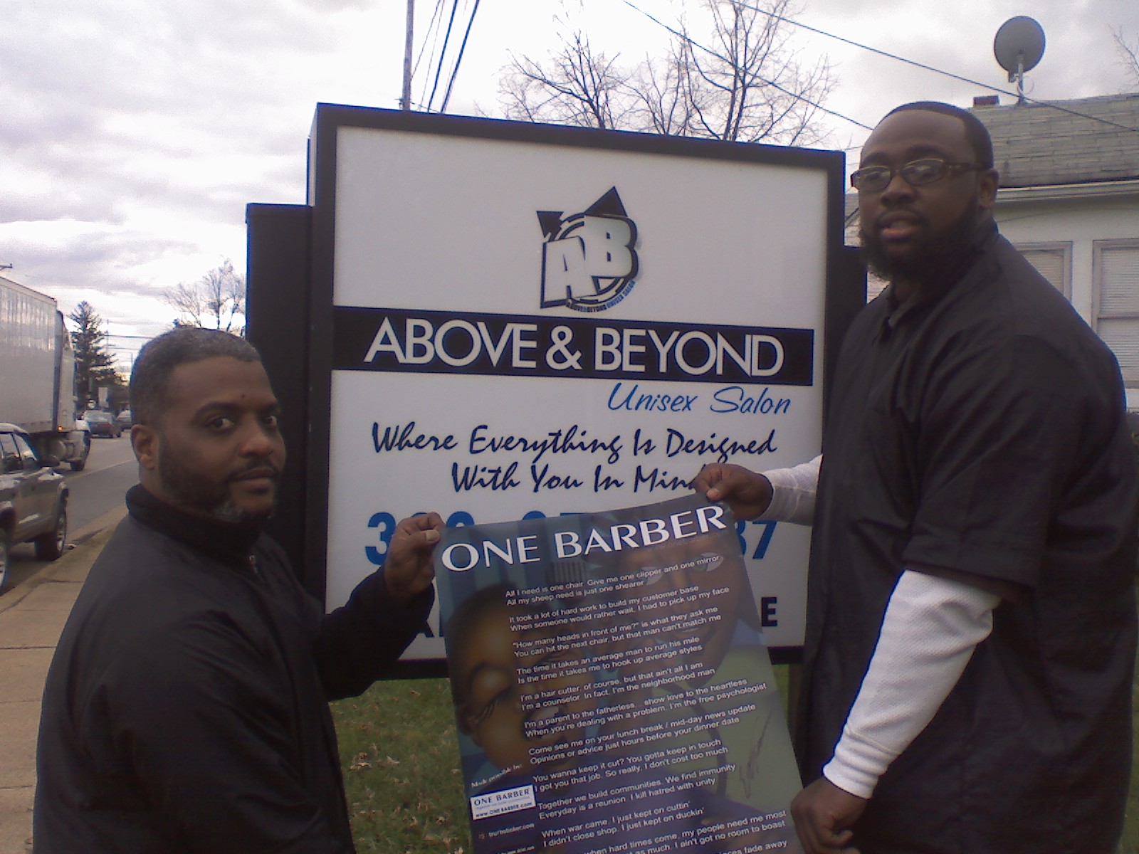 One barber delaware barber shops in de hair shops for Above and beyond beauty salon